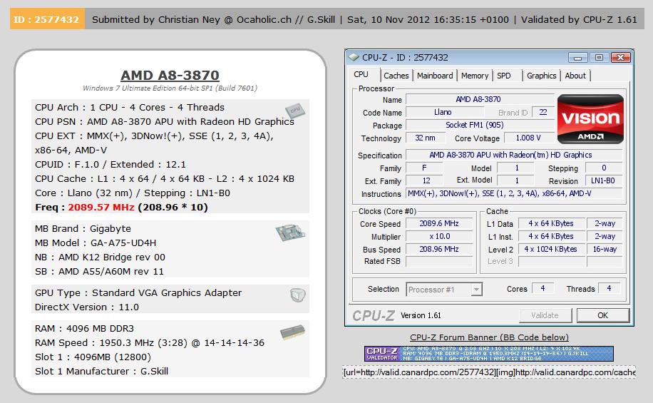 CPU-Z-Validierung bestätigt Rekord