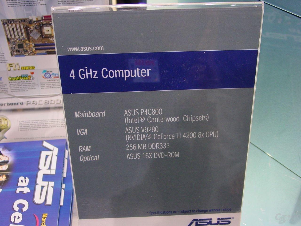 Asus übertaktet P4 auf 4117 GHz mit 274,5 MHz FSB