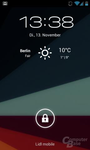 CyanogenMod 10 Lockscreen