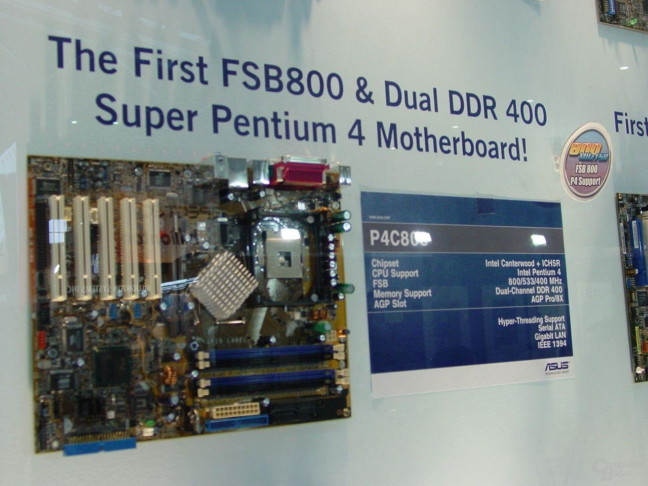 Asus P4C800 mit Canterwood-Chipsatz