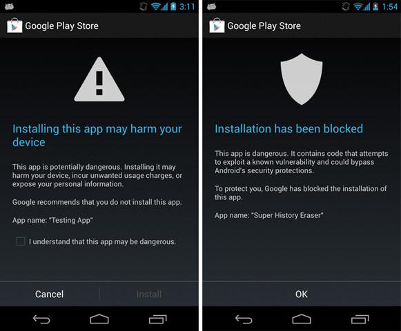 """Google neue Sicherheitsfunktion """"Apps verifizieren"""""""