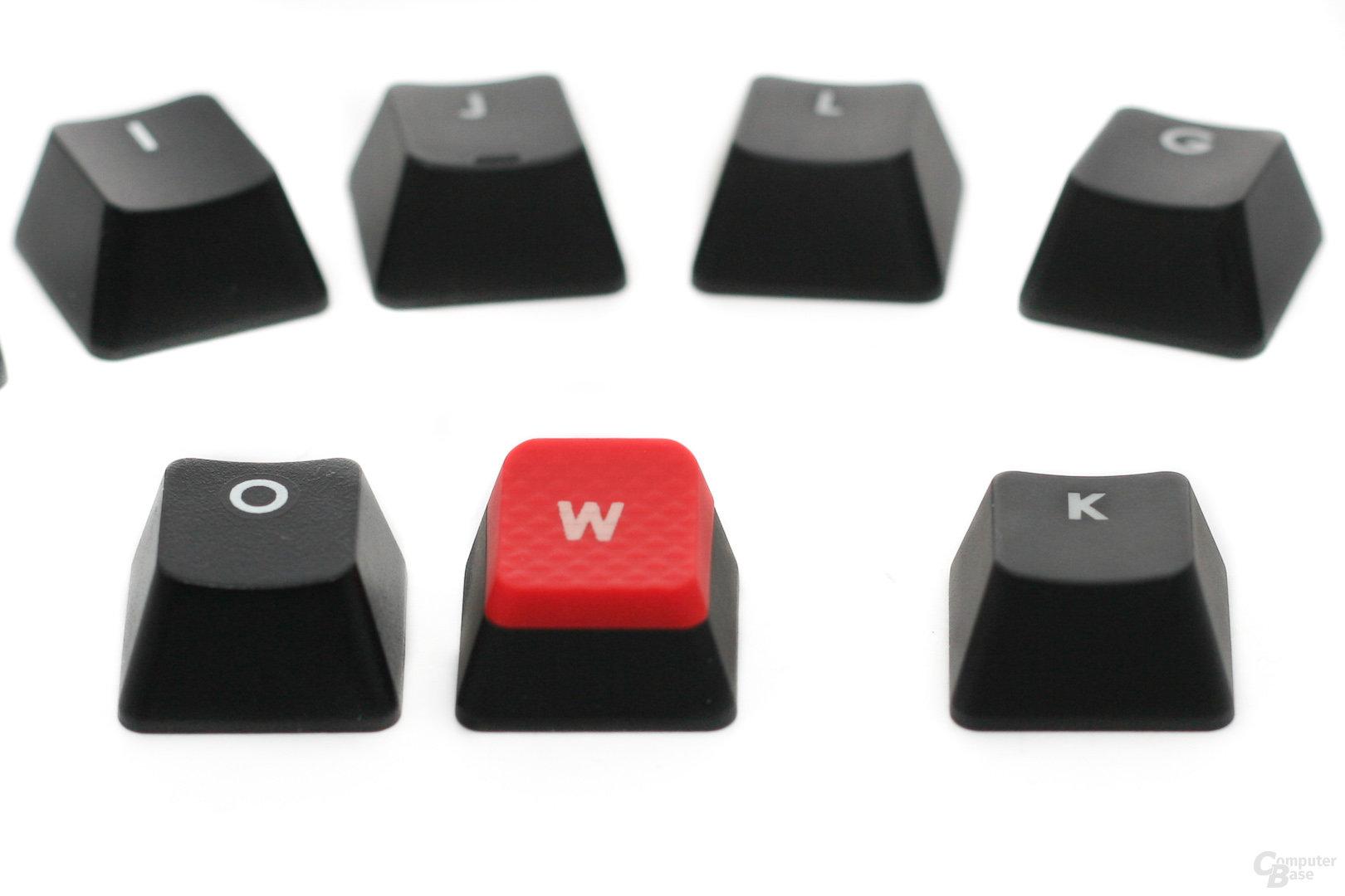 Keycaps K60 (links) & K90 (rechts)