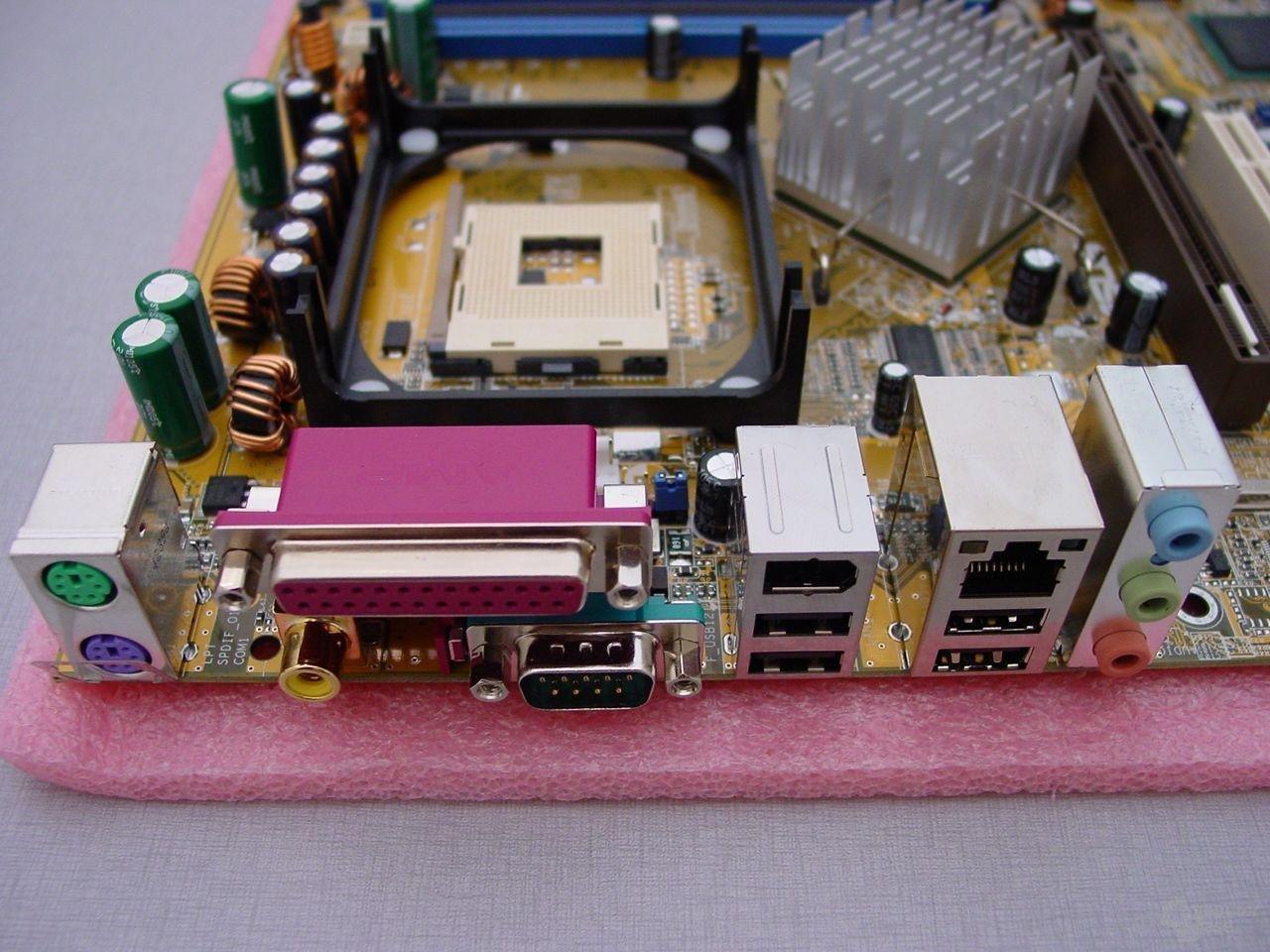 Detailshots vom Asus P4C800 mit Canterwood