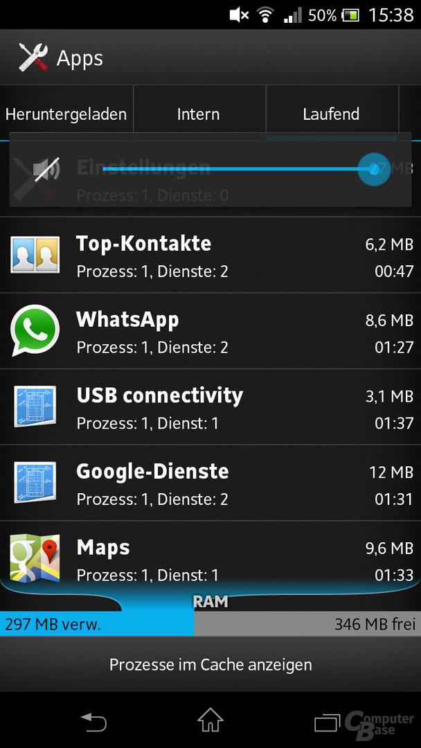 Sony Xperia T Oberfläche