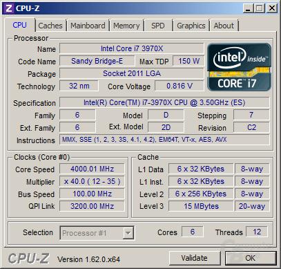 Intel Core i7-3970X im vollen Turbo (und falscher Spannung)