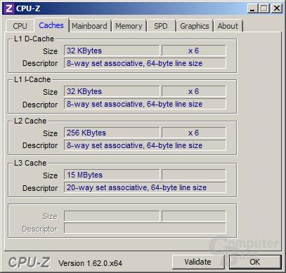 Cache-Bestückung des Intel Core i7-3970X