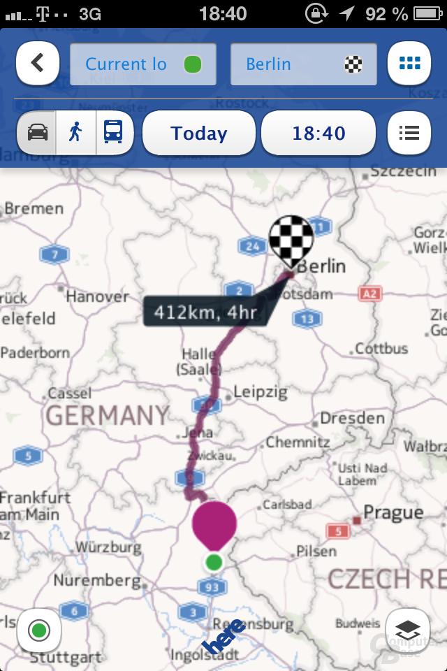 HERE Maps für iOS