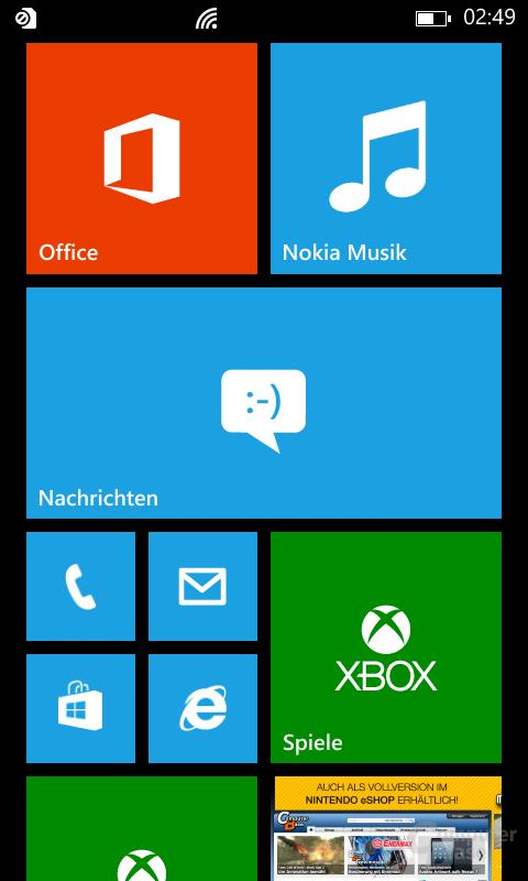 Nokia Lumia 820 Oberfläche
