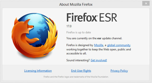 Firefox 17 ESR
