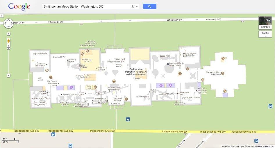 Innenraum-Karten bei Google Maps