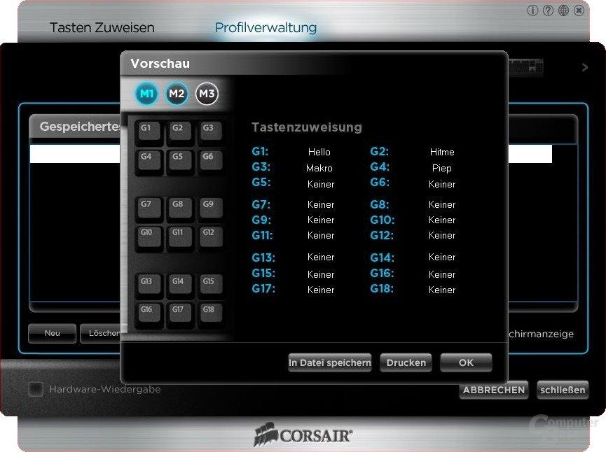 Corsair K90 – Software