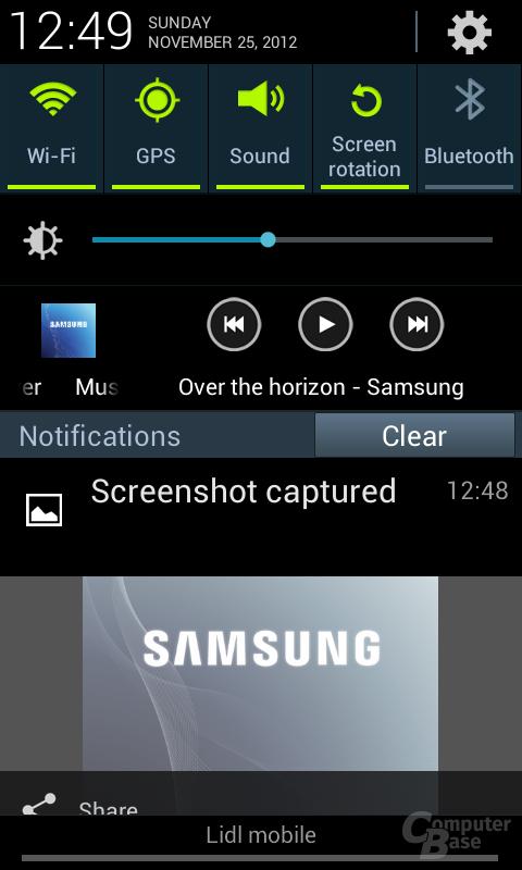 Samsung Galaxy S III mini Oberfläche