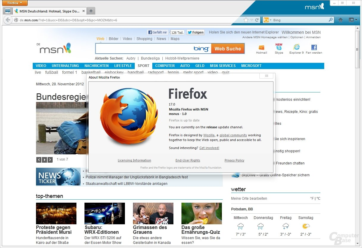 Firefox mit MSN
