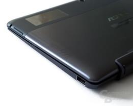 Anschlüsse rechts: Audio, Lautstärkewippe, USB