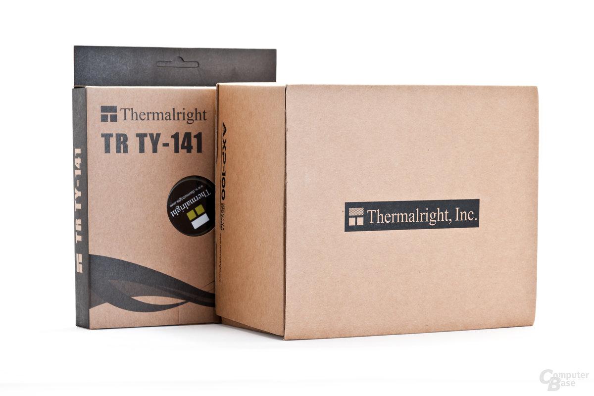 Verpackungen des AXP-100 und des TY-141 von Thermalright