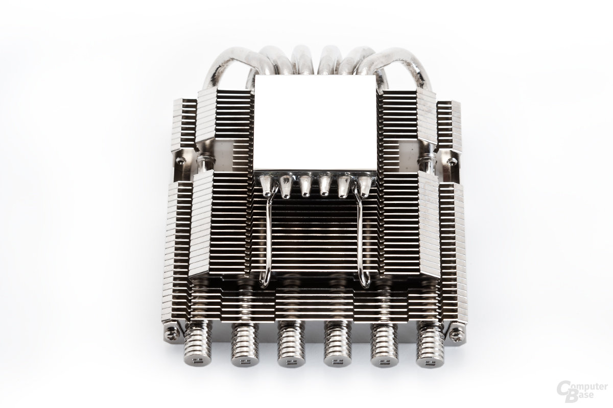 Sechs Heatpipes mit feinem Thermalright-Finish
