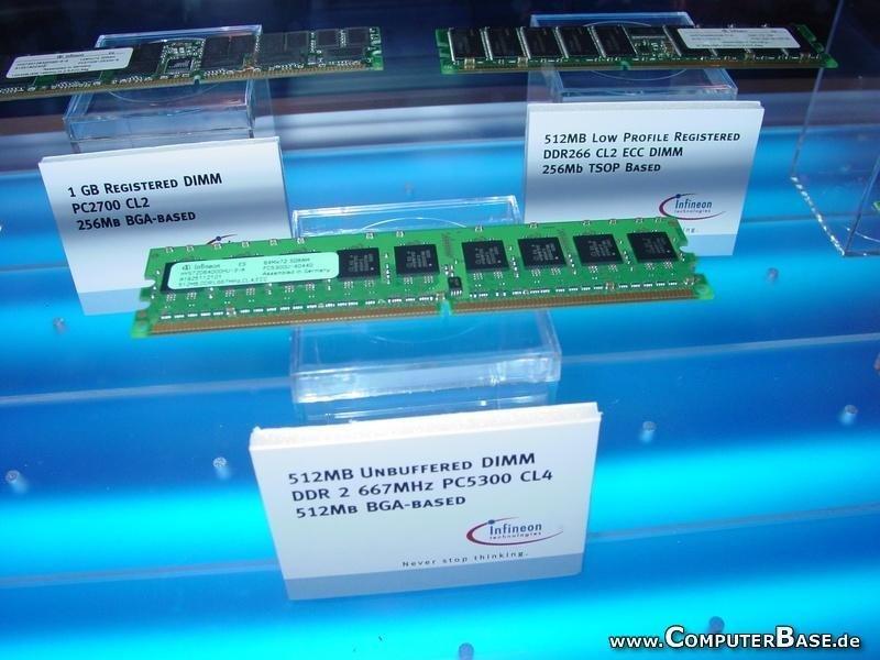 DDRII Speichermodul mit 667 MHz