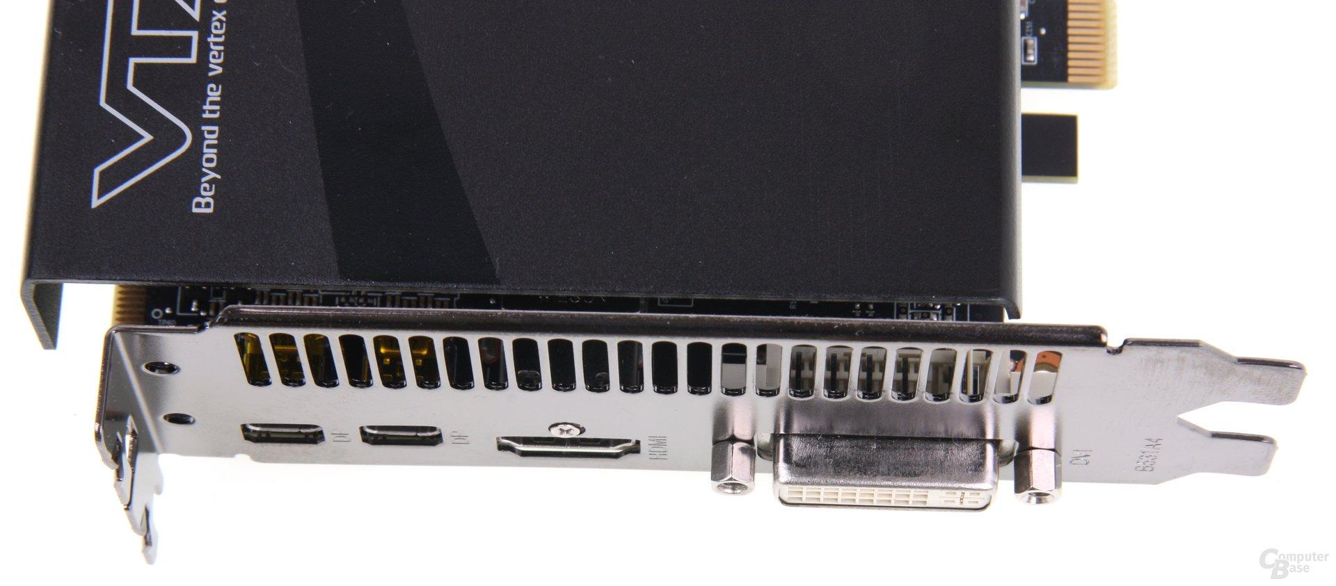 Radeon HD 7870 Black Boost Edition Anschlüsse