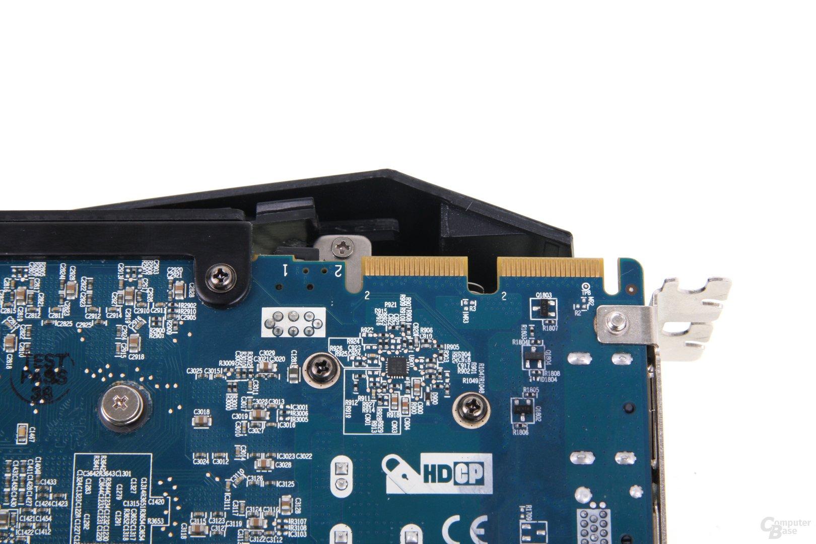 Radeon HD 7970 GHz Edition Vapor-X CF-Anschlüsse