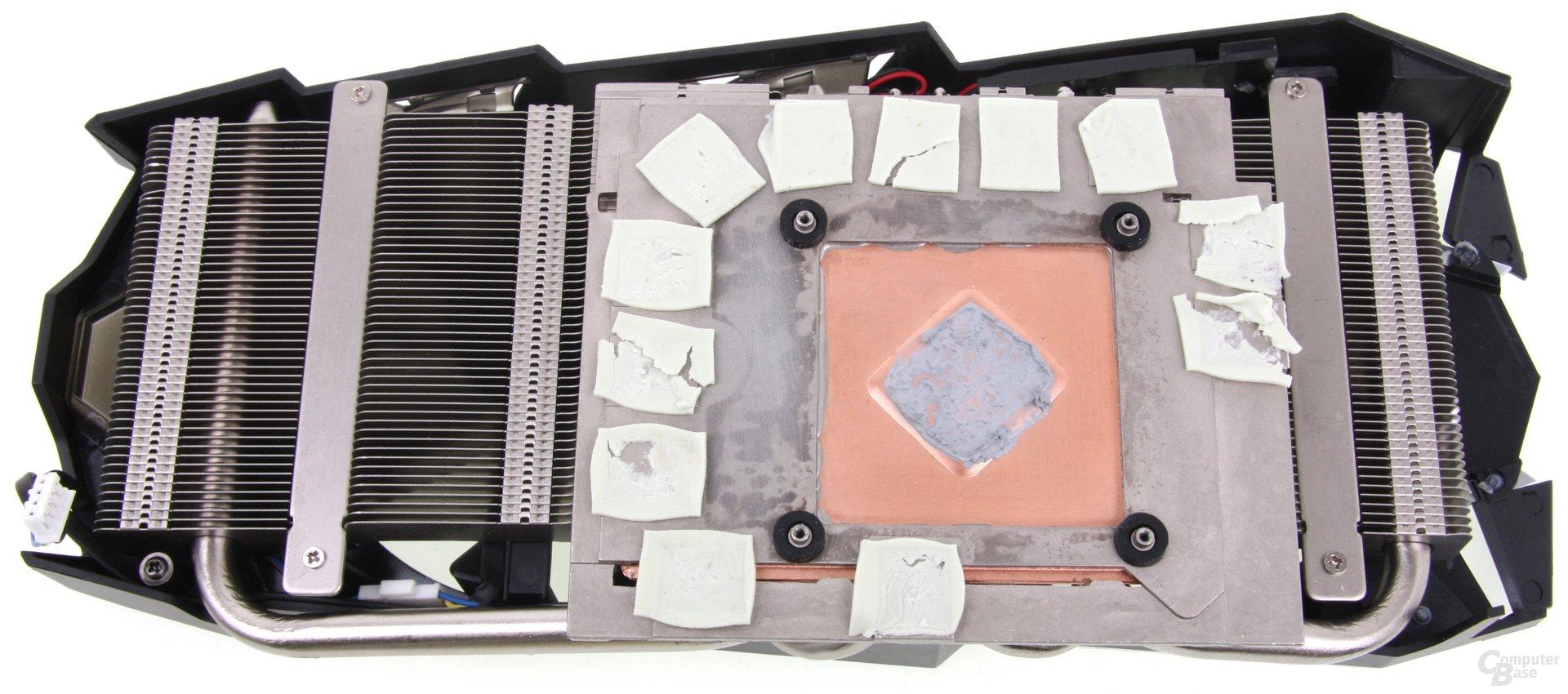 Radeon HD 7970 GHz Edition Vapor-X Kühlerrückseite