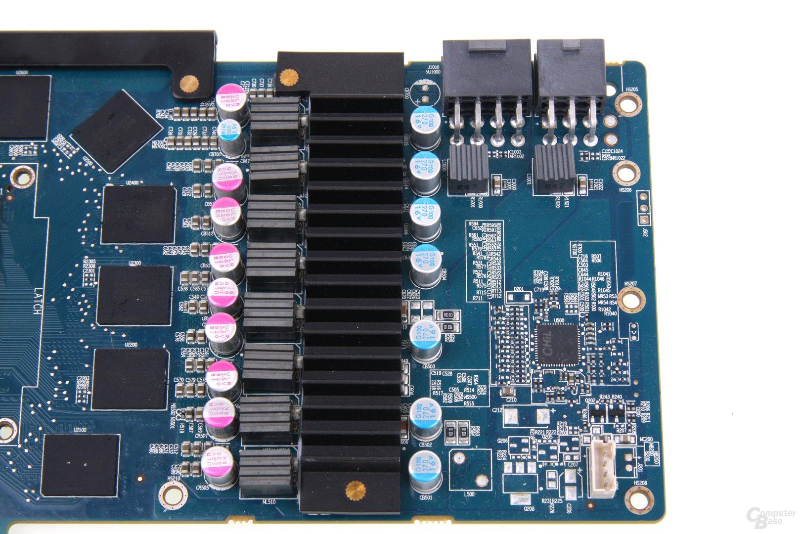 Radeon HD 7970 GHz Edition Vapor-X Stromversorgung