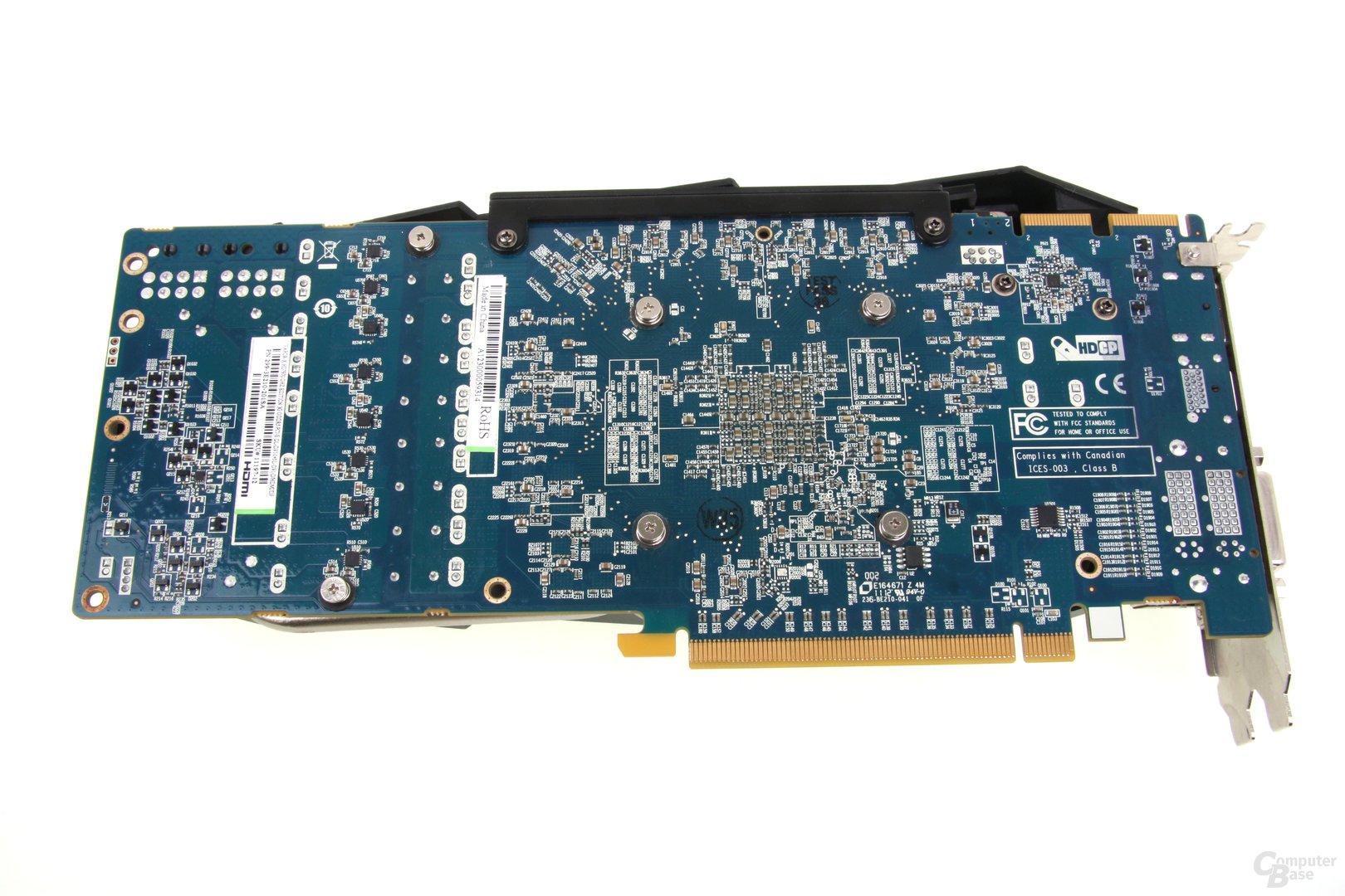 Radeon HD 7970 GHz Edition Vapor-X Rückseite