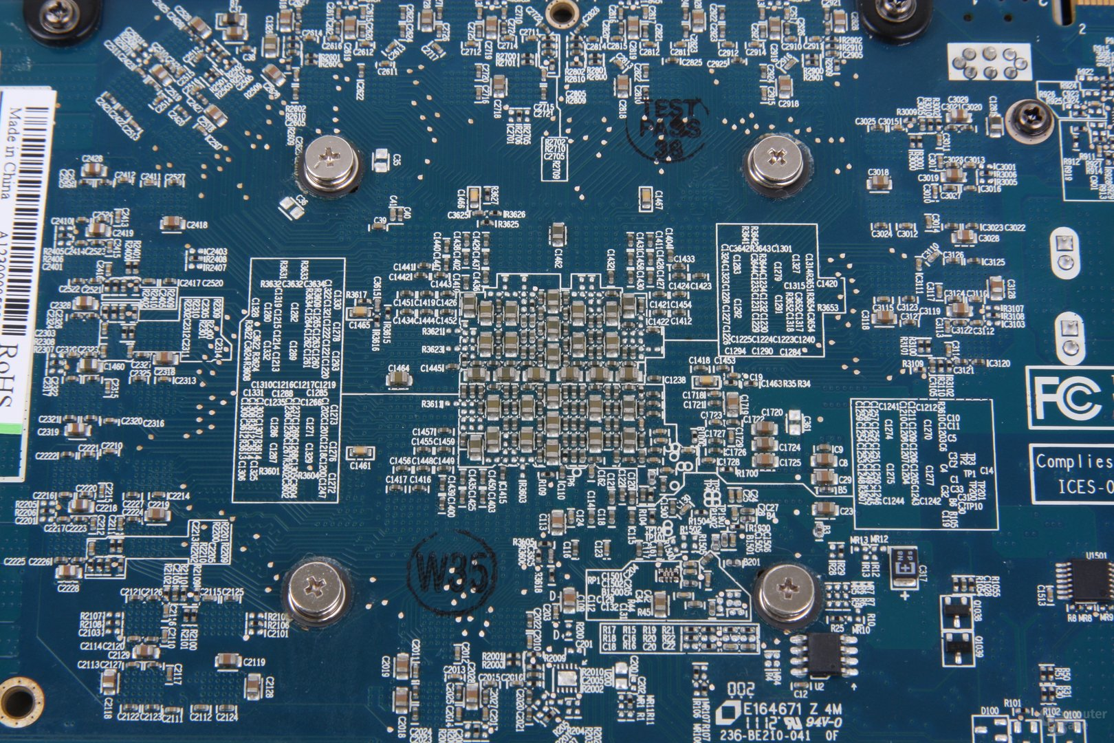 Radeon HD 7970 GHz Edition Vapor-X GPU-Rückseite