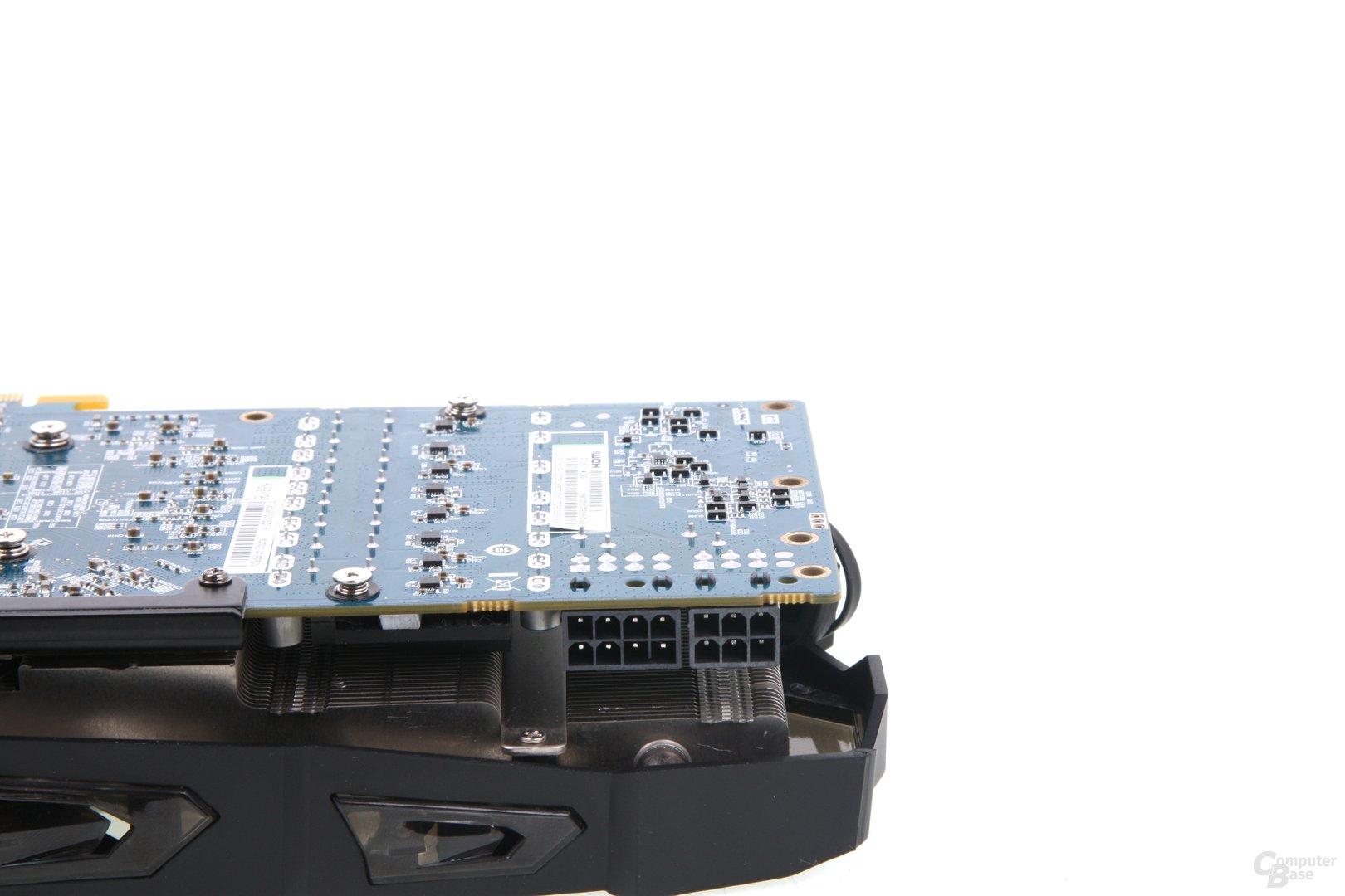 Radeon HD 7970 GHz Edition Vapor-X Stromanschlüsse