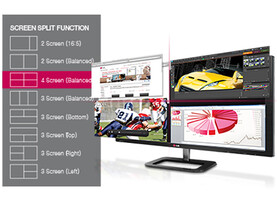 4-Screen Split beim LG 27EA83