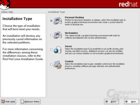 Installation von RedHat 9.0