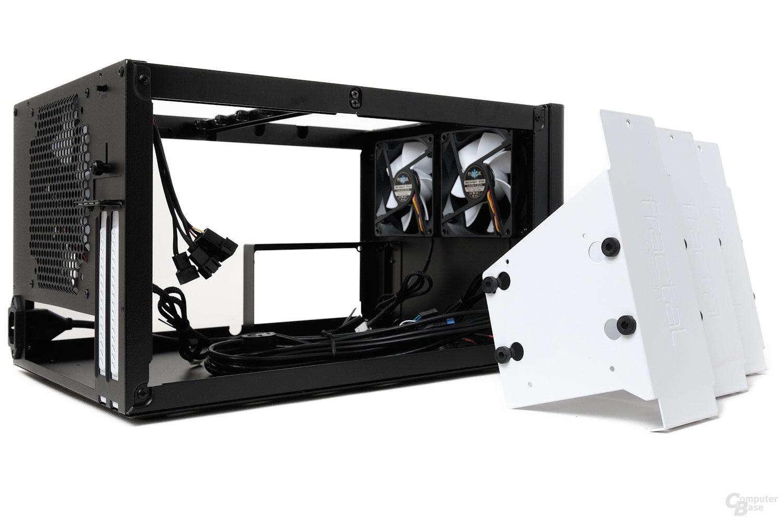 Fractal Design Node 304 – Festplattenkäfige ausgebaut