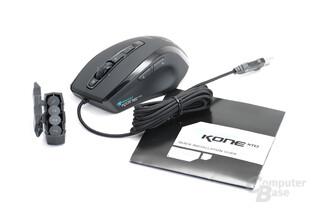 Kone XTD Lieferumfang mit Anleitung und Zusatzgewichten