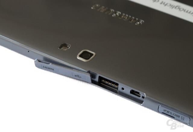 Ungünstige Abdeckung des USB- und HDMI-Ports