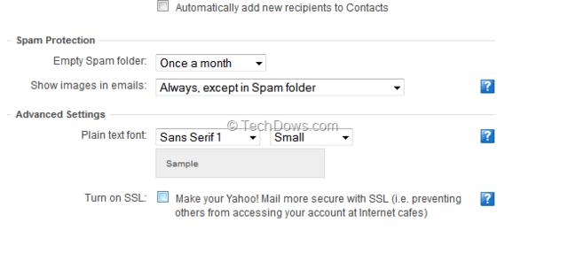 SSL für Yahoo-Mail einschalten