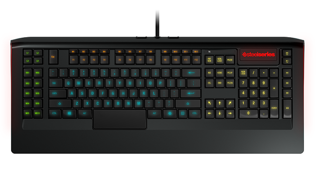 Steelseries gaming tastaturen der apex serie gezeigt