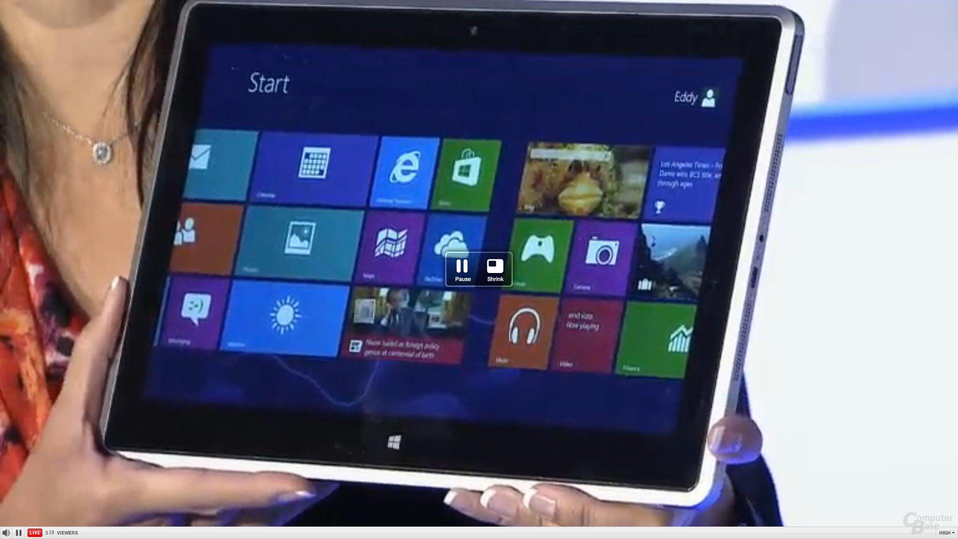 Vizio Tablet mit AMD-APU