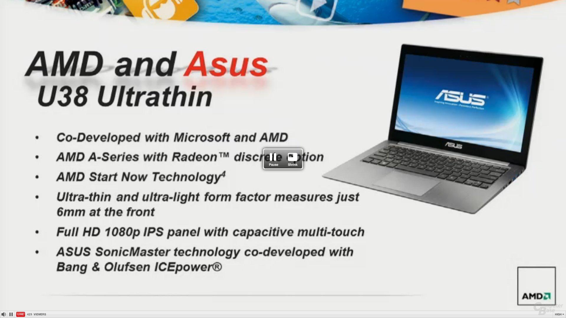 Asus U38 Ultrathin