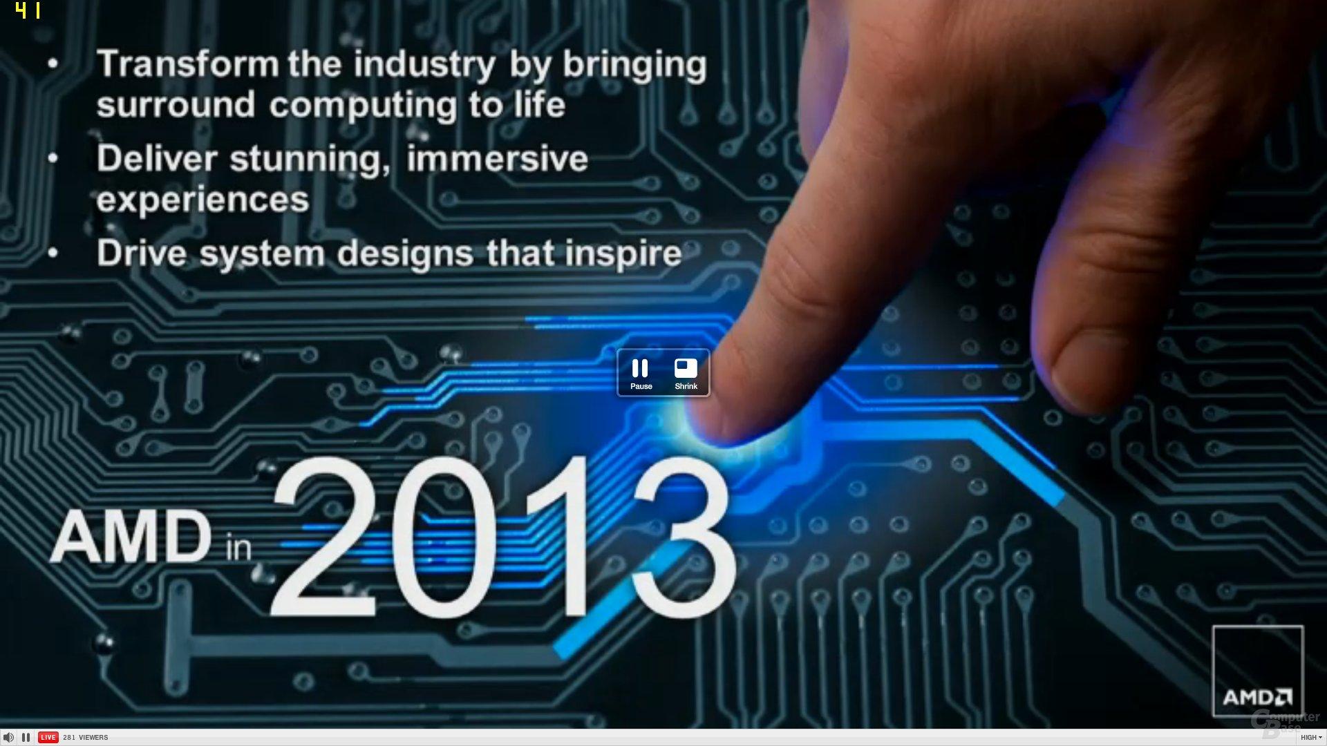 AMD-Präsentation auf der CES 2013