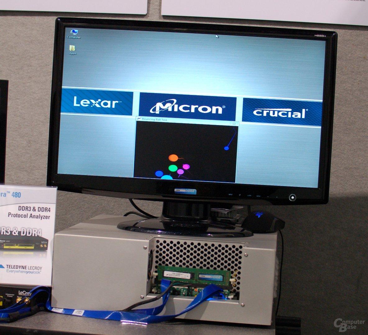 DDR4-Demonstration von Crucial