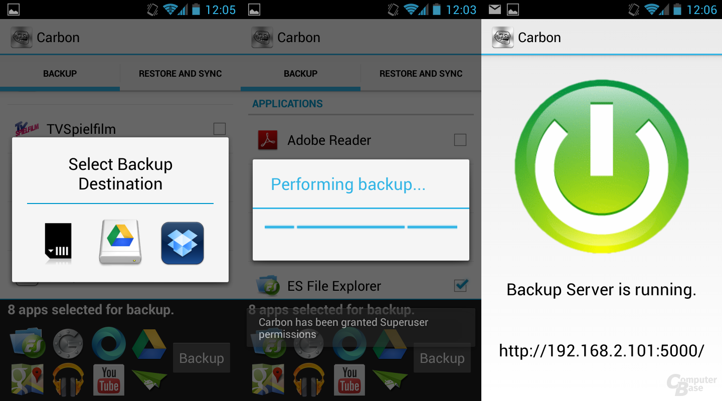 Carbon Backup-Tool