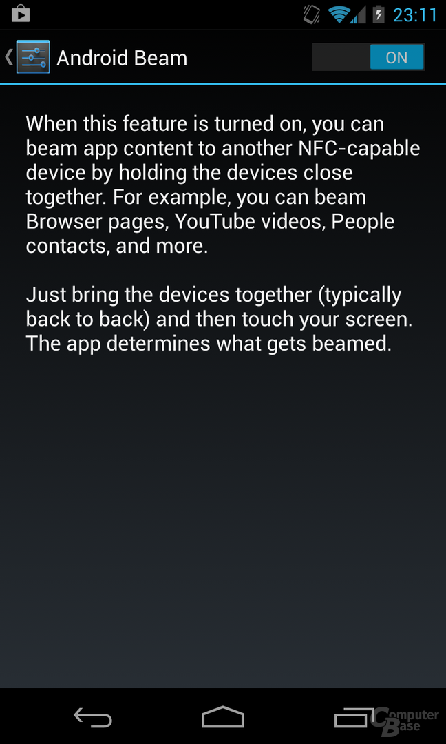Android 4.2.1 - Android Beam