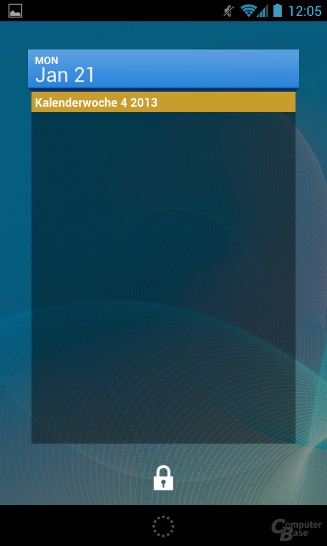 Android 4.2.1 - Lockscreen-Widget Kalender
