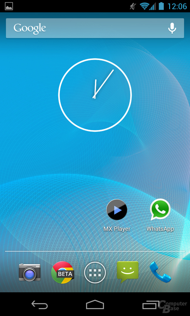 Android 4.2.1 - Homescreen
