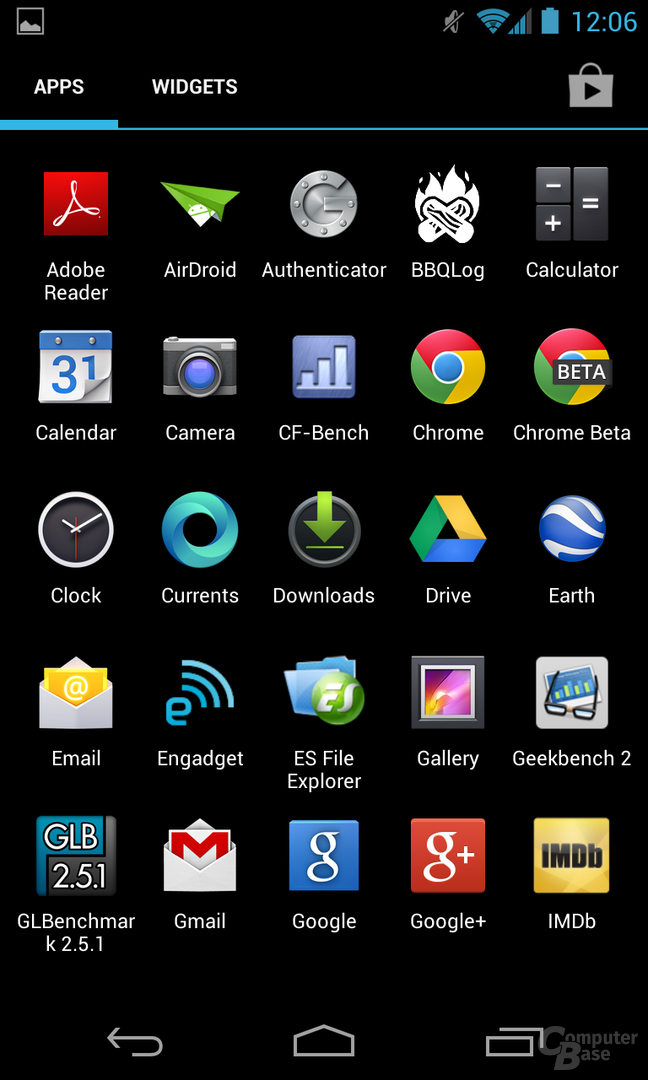 Android 4.2.1 - Launcher Apps