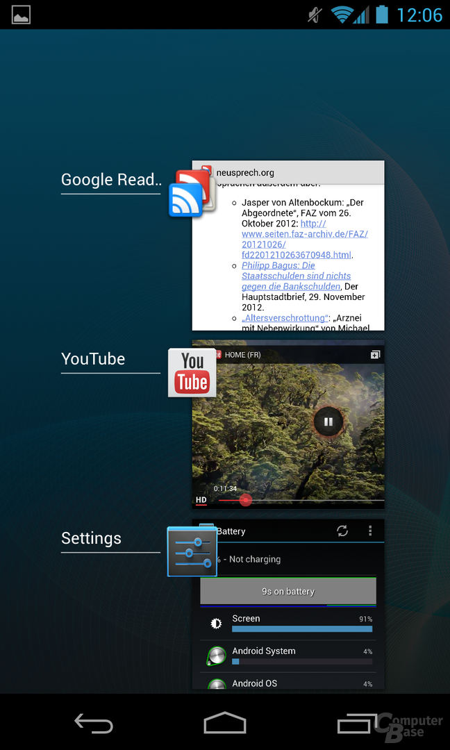 Android 4.2.1 - Multitasking