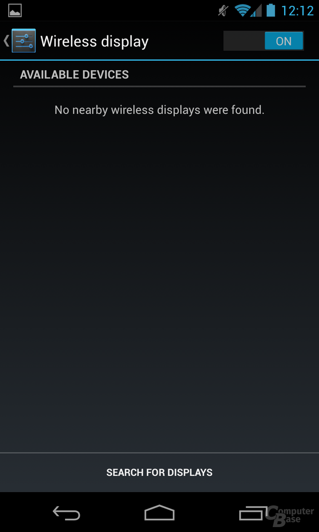 Android 4.2.1 - Wireless Display