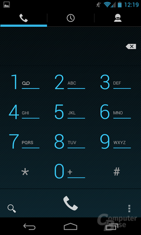 Android 4.2.1 - Wählfeld