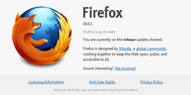 Firefox 18.0.1