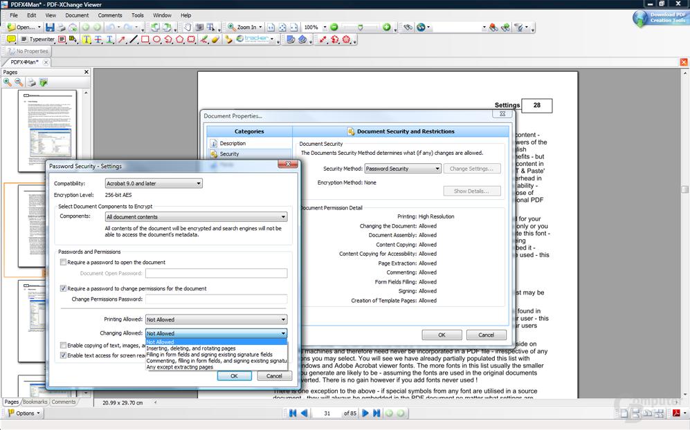 PDF-XChange – Verschlüsselung hinzufügen