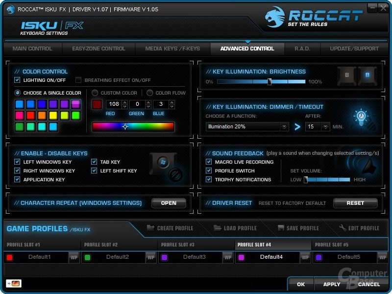Roccat Isku FX – Software